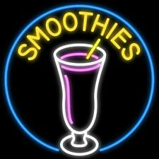 """New Smoothies Shop Open Beer Bar Neon Light Sign 24""""x20"""""""