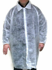 STERILE DISPOSABLE LAB COAT OVERALL XL VISITING LABORATORY CATERING FORENSIC
