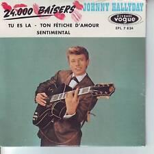 CD 4 titres JOHNNY HALLYDAY n°7 24.000 BAISERS ** TU ES LA