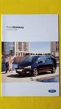 Ford Galaxy LX Zetec Ghia TDI sales catalogue car brochure July 2004 MINT