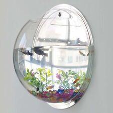 Hanging Wall Mount 1 Gallon Fish Tank Bowl Goldfish Vase Aquarium Plant Pot