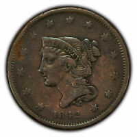 1842 1c Braided Hair Large Cent - Small Date - VF+ - SKU-Z1347