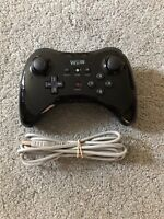 Official OEM Nintendo Wii U Pro Black Wireless Controller And Charger WUP-005