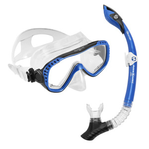 Compass Adult Mask & Snorkel Set | Blue Black | Aqua Lung Sport