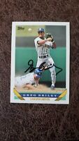 1993 Topps Greg Briley #14 - Seattle Mariners - Autographed!