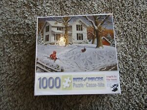 """Bits and Pieces """"Angels in the Snow"""" by John Sloane 1000 Piece Jigsaw Puzzle"""