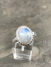 Size 9, Vintage Sterling Silver Handmade Ring, 925 Taxco With Moonstone
