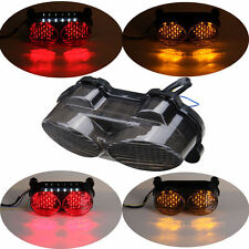 For Kawasaki ZX6R ZX9R ZR7S ZZR600 LED Tail light Brake Signal Light 12V Smoked