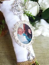 Photo Memory Bouquet Charm Picture Brooch Personalised Bride Gift Wedding Day