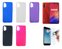 "Case Cover Gel TPU Silicone For Oppo Realme C3 (4G) 6.5"" + Optional Protector"