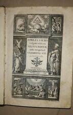 ANTICA BIBBIA BIBLIA SACRA VULGATAE EDITIONIS SIXTI V PONT M RECOGNITA CLEMENTIS