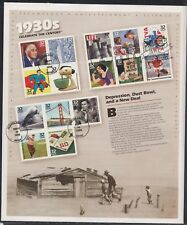 Scott 3185 Pane of 15 FDC - Celebrate the Century, 1930s