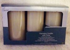 Flameless Candles with Built inTimer and Vanilla Scent 3 Candles New
