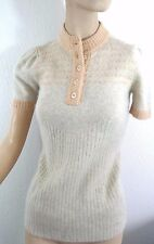 Vintage 70's Women's Knit Sweater Soft Shirt Angora Rabbit Beige Peach Penney S