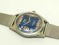 Hmt pilot hand winding men steel vintage 17 jewel made India wrist watch run