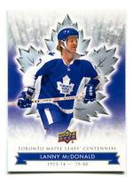 2017 Toronto Maple Leafs Centennial Lanny McDonald Card #34