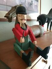 Bombay Co. Foxhunt Master Wood Figure doll-Equestrian Hunter Jumper Rider