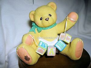 Cherished Teddies Bank - Baby Bear w Blocks 1997  #203688  Used In Box