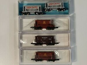 Atlas N scale 5x Ore Cars Union Pacific, Great Northern, Missabe.