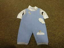 NWT NEW KISSY KISSY 0-3 SPACESHIP OVERALLS ONE PIECE SET  OUTFIT BOYS