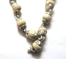 3mm Alloy Capped TULSI Small Bead Mala Necklace Bracelet Kanthi Japa Yoga Prayer
