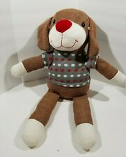 "Sock dog Dandee plush red & white polka dot sweater 20"" Collectors Choice"