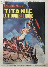 """ATLANTIDE LATITUDE 41° (A NIGHT TO REMEMBER)"" Affiche orig. italienne entoilée"