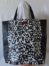 Victoria's Secret Leopard Cheetah Animal White & Black Shopper Tote Bag Purse