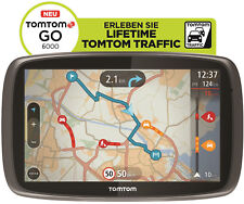 TomTom GO 6000 M Europe LIFETIME HD Traffic + Free 3D Maps EU XXL Tap&Go GPS WOW