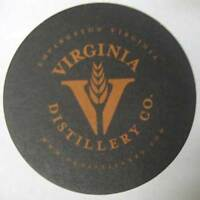 VIRGINIA DISTILLERY CO., WHISKEY, Malt Whisky COASTER, Mat, Lovingston, VIRGINIA