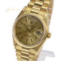 Authentic Rolex President 18038 18k Yellow Gold Champagne Dial Day Date Watch