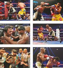 Floyd Mayweather v Manny Pacquiao  6 Card POSTCARD Set