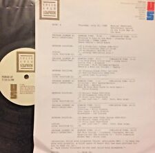 RADIO SHOW:7/20/89 20TH ANNIVERSARY MOON LANDING! DAVID BOWIE, TORNADOS, CAPRIS