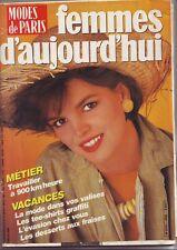 Modes de Paris femmes d'aujourd'hui numero 26 - Juin/juillet 1984