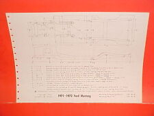 1971 1972 FORD MUSTANG CONVERTIBLE BOSS 351 MACH I PINTO FRAME DIMENSION CHART