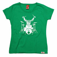 Gorilla Drummer WOMENS Banned Member T-SHIRT tee birthday gift fashion drum kit