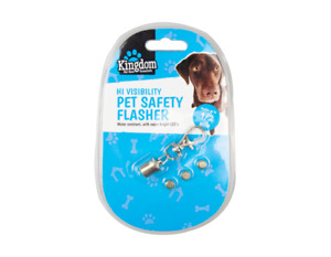 Pet Dog Cat Collar Flashing LED Light Tag Safety Flasher Hi Visibility Viz