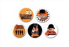 5 X Clockwork Orange buttons (25mm, badges, pins, punk, stanley kubrick, movie)