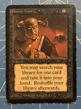MTG Magic The Gathering Alpha Demonic Tutor Uncommon MP