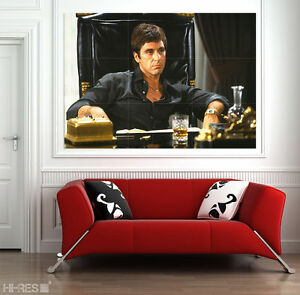 SCARFACE Movie POSTER PHOTO PAPER Scar01 Al Pacino Tony Montana 50x35 Wall Art