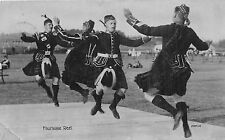 POSTCARD  SOCIAL  HISTORY  SCOTLAND   DANCING  Foursome  Reel   RP