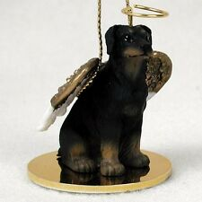 Doberman Pinscher UnCropped Black Tan Dog Angel Tiny Ornament Figurine Statue
