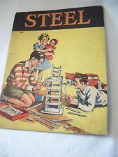"""STEEL"" ANTIQUE ILLUSTRATED KIDS BOOK 1940 ESTHER GOULD EUC ESTATE"