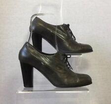 Jane Shilton Ladies Grey Leather 40s Vintage Lace Up Brogue Shoes U.K. 3/36
