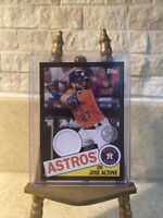 2020 Topps Jose Altuve Relic Jersey Patch Black Parallel Insert #147/199 🔥