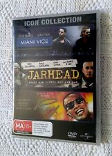 MIAMI VICE/ JARHEAD / RAY – ICON COLLECTION - DVD, 3-DISC SET, REGION -4, NEW