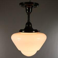 Art Deco Decken Lampe Glas Schirm Leuchte Vintage Bauhaus Lamp 30er 40er Jahre