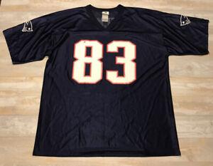 NFL OFFICIAL TEAM APPAREL WES WELKER JERSEY New England Patriots 83 Men XL Shirt