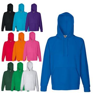 Genuine FRUIT OF THE LOOM Classic Plain Hooded Sweatshirt Mens Hoodie