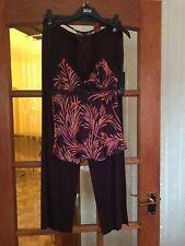 Gorgeous BNWT M&S Rosie @ Autograph aubergine mix cami top & jersey pyjama sets